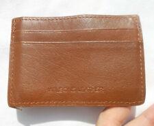 Wilson Leather Cognac Brown Mens Womens Card Case slim Compact ID Wallet