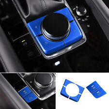 Fit For Mazda 3 Axela 20-2021 Aluminum Blue Console Handbrake Button Decoration