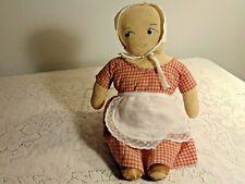 Antique Rag Doll, Very Old, Cut and Sew, Circa 1920s-30s, Nice Americana *B31