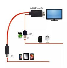 Red Micro USB MHL a HDMI Cable para SAMSUNG GALAXY SIII i9300 S3 S4 1080P HD TV