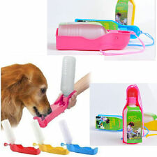 Portable Holdable Plastic Feeding Bowl Dog Cat Travel Pet Water Bottle HOT