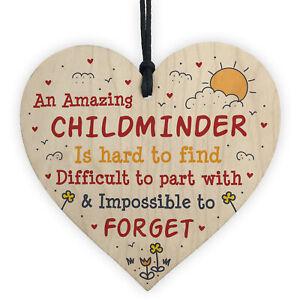 Childminder Leaving Gift Wood Heart Thank You Gift For Babysitter School Nursery