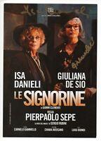 Isa Danieli e Giuliana De Sio Raro Flyer autografato Signed Autografo ITP Cinema