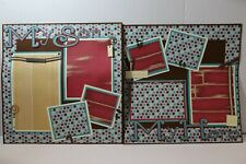 My Son ~  2 pre-made scrapbook pages paper piecing layout