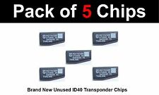 VAUXHALL Compatible Brand New ID40 TRANSPONDER CHIPS - Pack of 5 CHIPS.