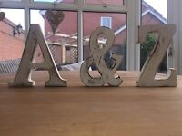 Shabby Chic Large White Wooden Letters A-Z Alphabet Decoration Wedding 15cm Tall