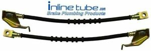 71-73 Ford Mustang Cougar Front Right Left Disc Brake Rubber Flex Hose Line Pair