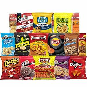 Ultimate Snack Care Package Variety Assortment of Chips Cookies Crackers 40 Coun