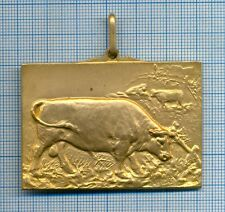 Old Brass Medal Agriculture Cow Breeding Contest Spa 1936 Belgium