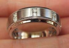 Natural Diamond Men's Wedding Band Ring 10k White Gold