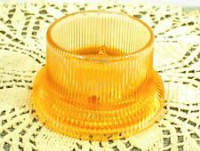 Pink Pinkish Glass Candle Holder Vintage Ribbed