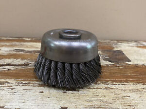 """Blue-point 4"""" Crimped Cup Wire Brush AC342A Made In USA"""