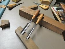 2 EARLY BUCK BROTHERS CARVING GOUGES 1/2 & 3/4 INCH WIDE OUTSIDE BEVEL GOUGES