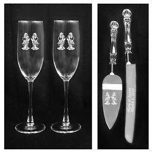 Same Sex Gay Minnie Mouse Wedding Toasting Glasses Flute  Personalized FREE