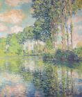 Poplars on the Epte Claude Monet Painting Print Canvas Reproduction Small 8x10