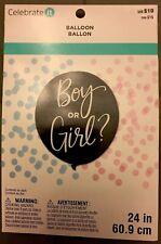 Celebrate it Boy or Girl Confetti Balloon 24 Inches New