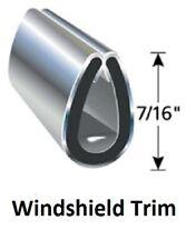 "Chrome Windshield trim - Vintage Snowmobile - 7/16"" leg - Trim Only"