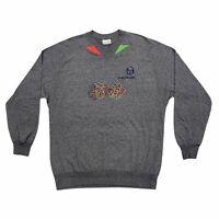 Sergio Tacchini Stickmen Print Long Sleeve Tshirt   Vintage 90s Sports Designer
