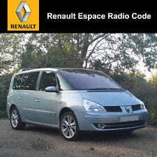 Renault Espace Radio Code Stereo Decode Car Unlock Fast Service UK All Vehicles