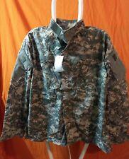 US Military ACU ARMY Digital Camo Fatigue Combat Shirt Coat Medium Reg