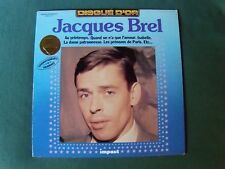 JACQUES BREL - DISQUE D'OR - LP 33T 1982 compilation French IMPACT 6886 109