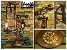 Repurposed Steampunk Telephone Vintage Inspired Copper Finish Upcycled Lamp
