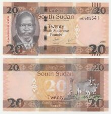 South Sudan 20 Pounds 2016 P-NEW UNC Uncirculated Banknote