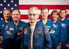 First & Last Space Shuttle Crews PHOTO Columbia Atlantis Mission Astronauts Flag