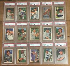 1952 BOWMAN Baseball Card LOT (45) ALL PSA GRADED