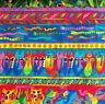 "17"" X 22"" ~Jungle Songs~ Laurel Burch Border Stripe Fabric Rainforest Animals"