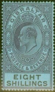 (Gibraltar) Gibilterra 1903 8s Opaco Viola & nero-blu SG54 Fine E Fresco