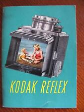 Eastman KODAK RELEX Camera Vintage 1940s Operating Instruction Manual Flash Lens