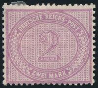 DR 1889, MiNr. 37 d, ungebraucht, Befund Wiegand, Mi. 2000,-