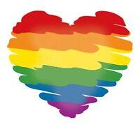 Rainbow Gay Pride Flag Heart Decal, Car Bumper Sticker, Window Wall Laptop, LGBT