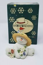 Sarah's Attic Snowonders May Blossom Collectible Snowman Figurine