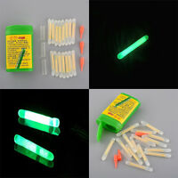 Mini Fishing Fluorescent Lightstick Night Float Clip On Dark Glow Stick 15pcs