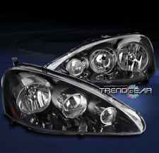 FOR 2005-2006 ACURA RSX DC5 BLACK REPLACEMENT HEADLIGHTS HEADLAMPS LAMP PAIR SET