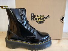 Dr Martens Jadon Platform Black Patent Leather Lamper Boots for Women