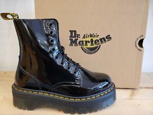 Dr Martens Jadon Platform Black Patent Leather Lamper Boots for Women
