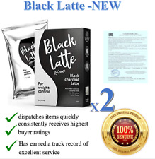2X Black Latte Dry Drink Weight Control, Weight Loss, Body Cleansing 09/2022 NEW