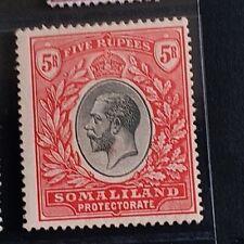 SOMALILAND 1921 KG V 5r  SG 85 Sc 76 wmk MSCA top value MLH