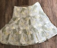 Fat Face Heratige Linen Skirt Uk 8 Ditsy Vintage Vibe