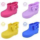 Kids Girls Rain Boots Rubber Wellies Boys Snow Shoes Cartoon Cute Children