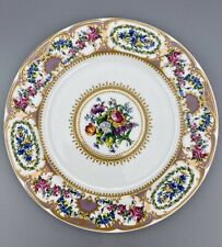 "New Listing Andrea by Sadek Collection Sevres 10 3/4"" Dinner Plate Floral Band Purple Gold"