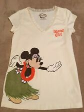 "Disney Store Minnie Mouse ""Island Girl"" Shirt, Women's Size XS"