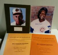 Cal Ripken Sr Buck O' Neil MLB Baseball hand signed autograph photo lot 2