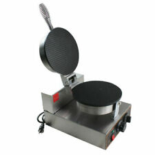Stainless Ice Cream Cone Egg Roll Maker Crispy Waffle Making Machine Nonstick