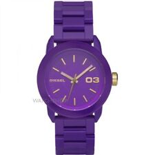 DZ5264 NEW Genuine DIESEL Ladies Purple Resin & Gold S/S Bracelet watch £120
