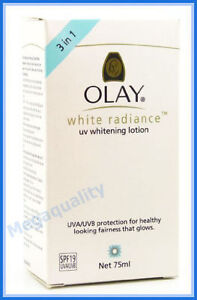 OLAY WHITE RADIANCE UV WHITENING LOTION SPF 19 UVA / UVB LOOKING FAIRNESS 75 ml.