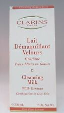 CLARINS CLEANSING MILK WITH GENTIAN-COMBINATION OR OILY SKIN - 7 OZ. NEW -BOXED